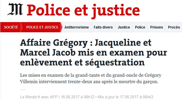 Le Monde - Gregory